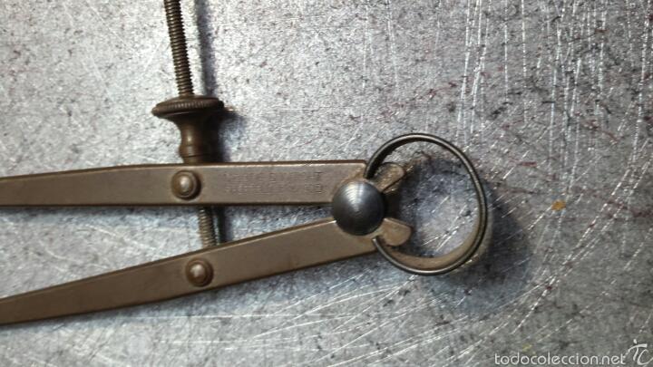 Antigüedades: Antiguo compas de hierro - Foto 3 - 57529618