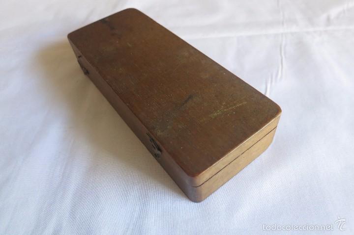 Antigüedades: caja y balanza de ponderales monetarios de Ca 1870 - Foto 5 - 57566745