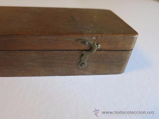 Antigüedades: caja y balanza de ponderales monetarios de Ca 1870 - Foto 6 - 57566745