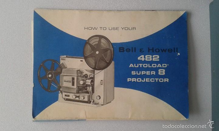 Antigüedades: *INCREIBLE ESTADO* Proyector super 8 - Bell & Howell 482 *FUNCIONANDO, CON MANUAL DE INSTRUCCIONES* - Foto 11 - 57570162