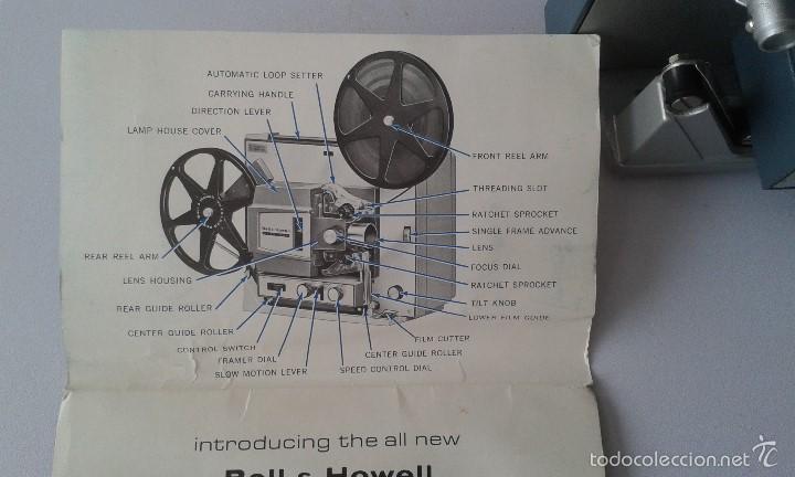 Antigüedades: *INCREIBLE ESTADO* Proyector super 8 - Bell & Howell 482 *FUNCIONANDO, CON MANUAL DE INSTRUCCIONES* - Foto 12 - 57570162