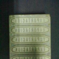 Antigüedades: EXPORTACION PLANCHA LINOTIPIA. Lote 57625835