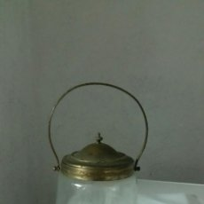 Antigüedades: CARAMELERA DE CRISTAL TALLADO Y BRONCE MUY ANTIGUO,SIGLO XIX APROX. Lote 57650316