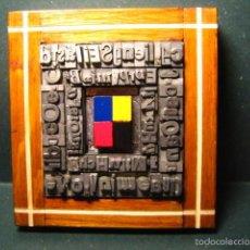 Antigüedades: IMPRENTA - CUADRO TIPOGRAFICO SELECCION DE COLOR - MODELO 3 CUADRADOS. Lote 57679964
