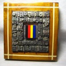Antigüedades: IMPRENTA - CUADRO TIPOGRAFICO SELECCION DE COLOR - MODELO 5 VERTICALES. Lote 57703161