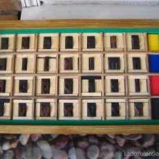 Antigüedades: IMPRENTA, CAJA ABECEDARIO MADERA - MODELO 2. Lote 57703965