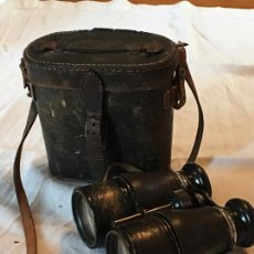 Antigüedades: BINOCULARES ANTIGUOS CON FUNDA ORIGINAL DE PIEL.ANTIQUE BINOCULARS WITH LEATHER HOLSTER.. Lote 57712541