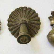 Antigüedades: LOTE DE 4 ANTIGUOS TIRADORES DE MUEBLES. Lote 57738278