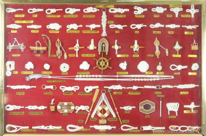 K3-033. PLAFON. COMPOSICION DE NUDOS MARINEROS. SIGLO XX. (Antigüedades - Antigüedades Técnicas - Marinas y Navales)