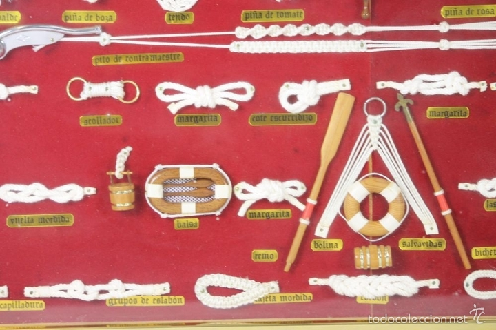 Antigüedades: K3-033. PLAFON. COMPOSICION DE NUDOS MARINEROS. SIGLO XX. - Foto 3 - 57766843