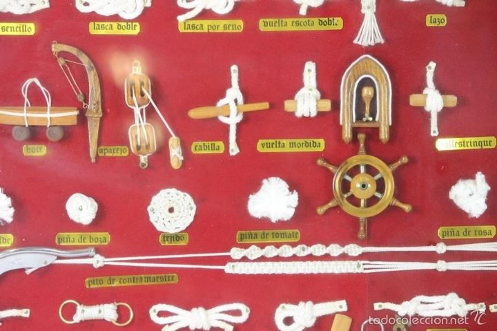 Antigüedades: K3-033. PLAFON. COMPOSICION DE NUDOS MARINEROS. SIGLO XX. - Foto 6 - 57766843