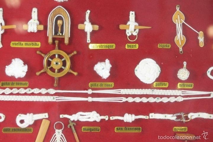 Antigüedades: K3-033. PLAFON. COMPOSICION DE NUDOS MARINEROS. SIGLO XX. - Foto 11 - 57766843