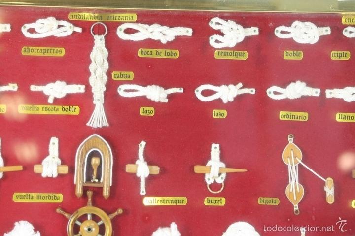 Antigüedades: K3-033. PLAFON. COMPOSICION DE NUDOS MARINEROS. SIGLO XX. - Foto 12 - 57766843