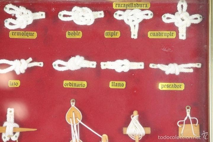 Antigüedades: K3-033. PLAFON. COMPOSICION DE NUDOS MARINEROS. SIGLO XX. - Foto 14 - 57766843