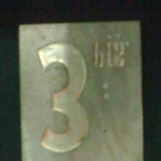Antigüedades: 3 PESETAS PLANCHA LINOTIPIA.. Lote 57767463