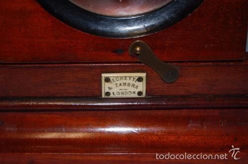 Antigüedades: VISOR DE MESA ESTEROSCÓPICO DE SOBREMESA EN MADERA DE CAOBA - Foto 3 - 57774617