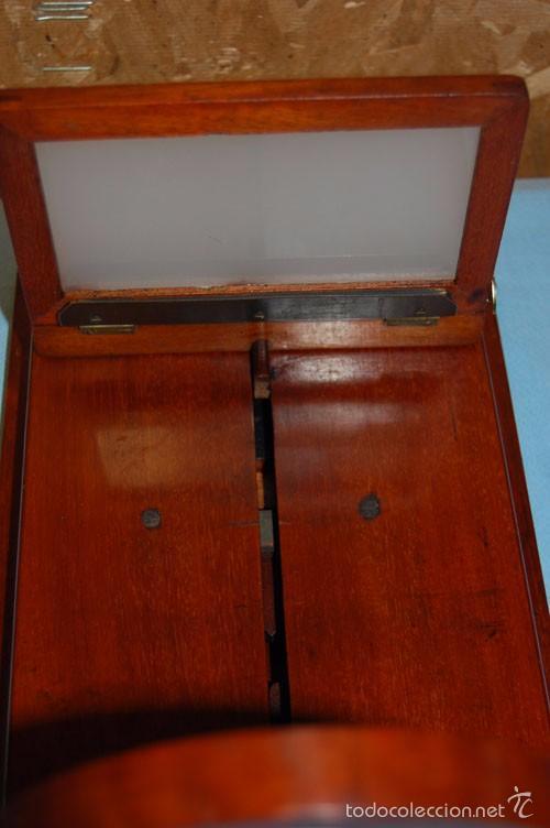 Antigüedades: VISOR DE MESA ESTEROSCÓPICO DE SOBREMESA EN MADERA DE CAOBA - Foto 5 - 57774617