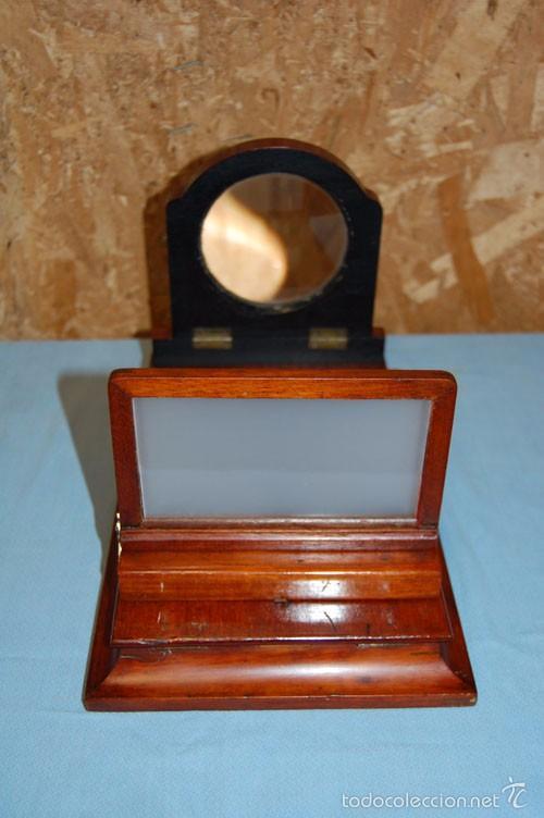 Antigüedades: VISOR DE MESA ESTEROSCÓPICO DE SOBREMESA EN MADERA DE CAOBA - Foto 7 - 57774617