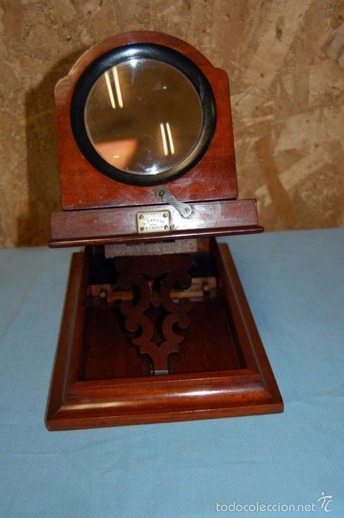 Antigüedades: VISOR DE MESA ESTEROSCÓPICO DE SOBREMESA EN MADERA DE CAOBA - Foto 8 - 57774617