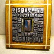 Antigüedades: IMPRENTA - CUADRO TIPOGRAFICO - MODELO INICIAL EN MADERA LETRA L. Lote 57847770