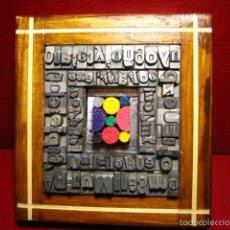 Antigüedades: IMPRENTA - CUADRO TIPOGRAFICO - MODELO FIGURAS GEOMETRICAS - REFERENCIA 5. Lote 57848840