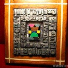 Antigüedades: IMPRENTA - CUADRO TIPOGRAFICO - MODELO FIGURAS GEOMETRICAS - REFERENCIA 11. Lote 57848966