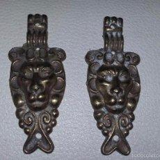 Antigüedades: 2 EMBELLECEDORES DE BRONCE PARA MUEBLE REF, 08. Lote 57855881