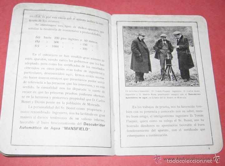 Antigüedades: ZAHORI BUSCADOR AGUA SUBTERRANEA MANSFIELD WATER FINDER LIVERPOOL ENGLAND 1909 - Foto 2 - 57857821