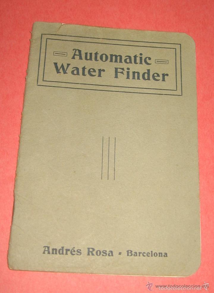 Antigüedades: ZAHORI BUSCADOR AGUA SUBTERRANEA MANSFIELD WATER FINDER LIVERPOOL ENGLAND 1909 - Foto 4 - 57857821