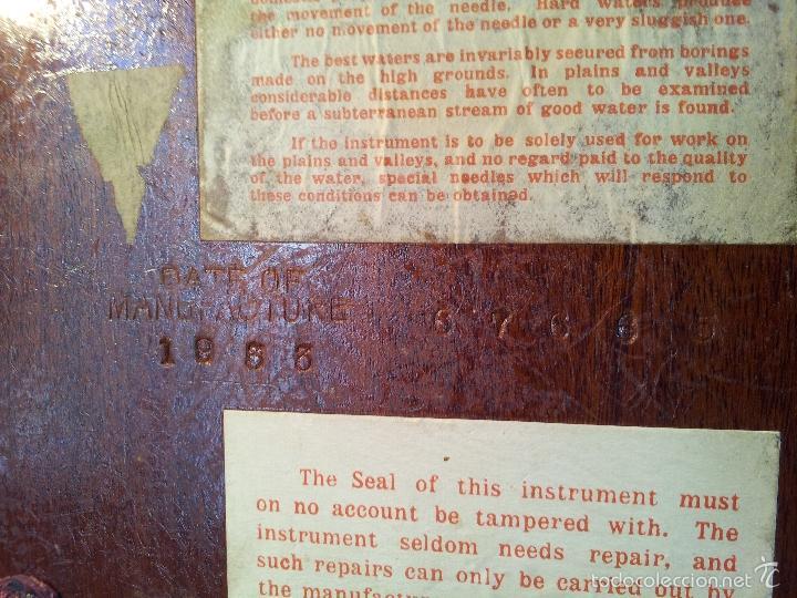 Antigüedades: ZAHORI BUSCADOR AGUA SUBTERRANEA MANSFIELD WATER FINDER LIVERPOOL ENGLAND 1909 - Foto 30 - 57857821