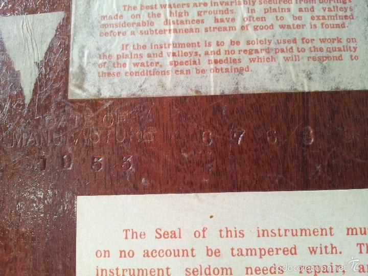 Antigüedades: ZAHORI BUSCADOR AGUA SUBTERRANEA MANSFIELD WATER FINDER LIVERPOOL ENGLAND 1909 - Foto 31 - 57857821