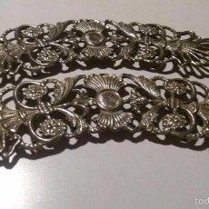 Antigüedades: PAREJA DE EMBELLECEDORES DE BRONCE PARA MUEBLE REF. 023. Lote 57858805