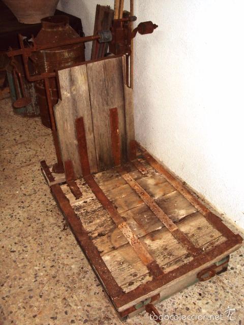 Antigüedades: Báscula de cereal grande 500 kilos - Foto 2 - 57884915
