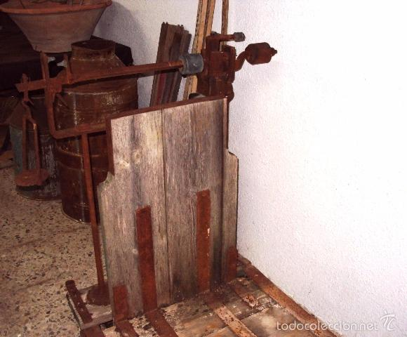 Antigüedades: Báscula de cereal grande 500 kilos - Foto 3 - 57884915