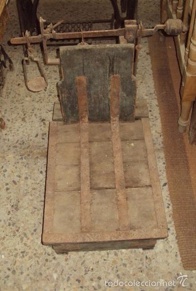 BÁSCULA DE CEREAL. (Antigüedades - Técnicas - Medidas de Peso - Básculas Antiguas)