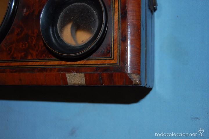 Antigüedades: VISOR ESTEROSCÓPICO DE SOBREMESA EN MADERA DE RAÍZ ERABLE - Foto 3 - 57905518