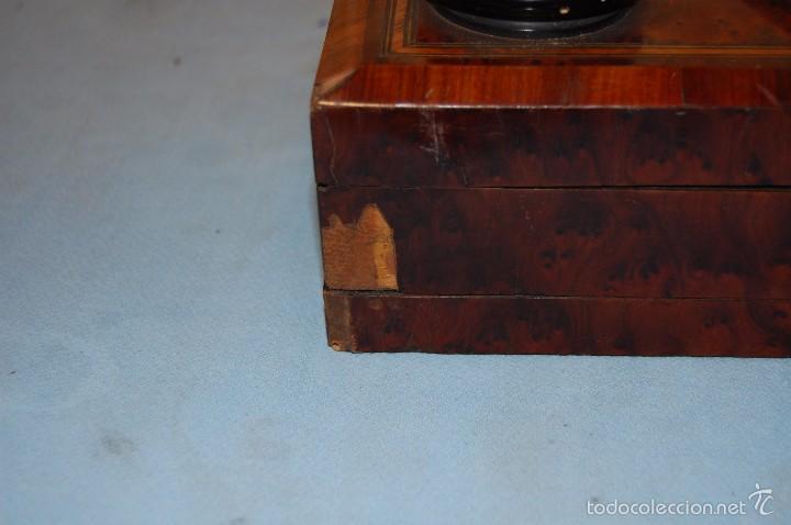 Antigüedades: VISOR ESTEROSCÓPICO DE SOBREMESA EN MADERA DE RAÍZ ERABLE - Foto 5 - 57905518