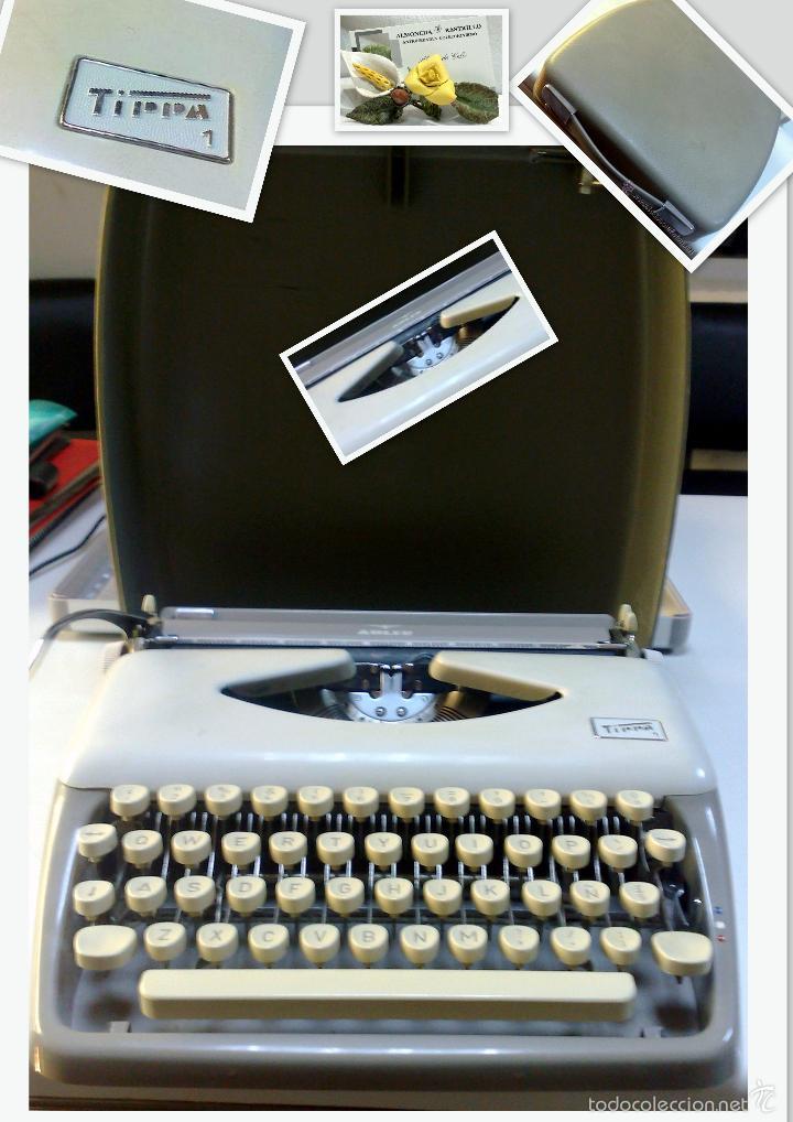 ANTIGUA MAQUINA DE ESCRIBIR ALEMANA,- MARCA ADLER, MODELO TIPPA 1 CIRCA 1950-1960 (Antigüedades - Técnicas - Máquinas de Escribir Antiguas - Otras)