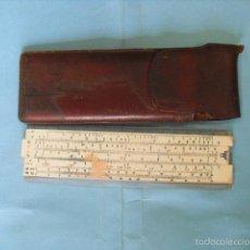 Antigüedades: ESCALIMETRO ANTIGUO ARTICO, CON FUNDA DE CUERO. Lote 58003574