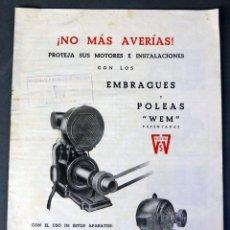 Antiquitäten - Catálogo Wem embragues y poleas maquinaria para industria años 30 - 58005432