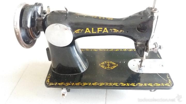 Antigüedades: Antigua máquina de coser ALFA EIBAR ESPAÑA - Foto 5 - 58006803