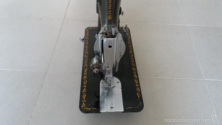 Antigüedades: Antigua máquina de coser ALFA EIBAR ESPAÑA - Foto 7 - 58006803