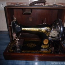 Antigüedades: ANTIGUA MAQUINA DE COSER SINGER CON MALETA DE TRANSPORTE ORIGINAL. Lote 58015912