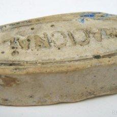 Antigüedades: ANTIGUA Y MUY RARA PIEDRA DE AFILAR NAVAJA GRABADA CON EL NOMBRE NACIONAL. Lote 58017586