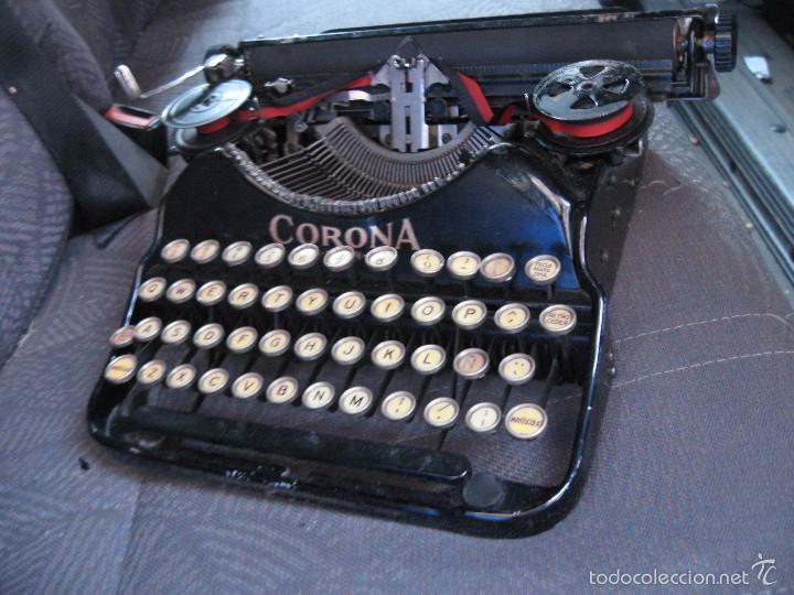 Antigüedades: Pequeña maquina de escribir antigua Corona Four - Funcionando . buen estado - Foto 5 - 257646660
