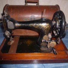 Antigüedades: MAQUINA DE COSER SINGER ANTIGUA, EDICION ESPECIAL CON DECORACION FLORAL. Lote 58057423