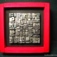 Antigüedades: IMPRENTA - CUADRO TIPOGRÁFICO BICOLOR - REFERENCIA NÚMERO 9. Lote 58072208