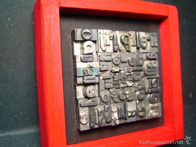 Antigüedades: IMPRENTA - CUADRO TIPOGRÁFICO BICOLOR - REFERENCIA NÚMERO 9 - Foto 3 - 58072208