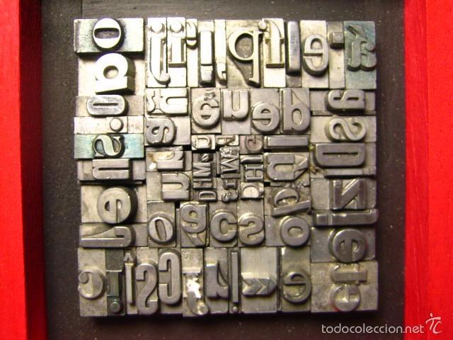 Antigüedades: IMPRENTA - CUADRO TIPOGRÁFICO BICOLOR - REFERENCIA NÚMERO 9 - Foto 4 - 58072208