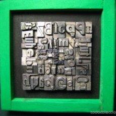 Antigüedades: IMPRENTA - CUADRO TIPOGRÁFICO BICOLOR - REFERENCIA NÚMERO 14. Lote 58072243